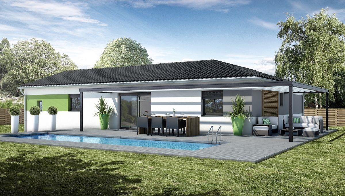Terrain de 486 m maison de 100 m2 à autignac 34480 192 000 €